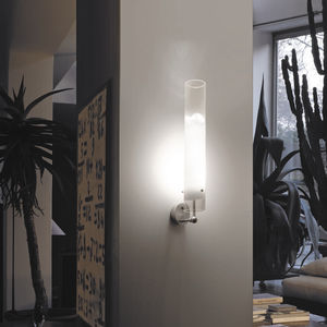 contemporary wall light / glass / LED / round