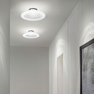 contemporary ceiling light / round / glass / LED