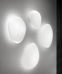 contemporary wall light / glass / LED / IP20