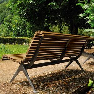 garden bench / contemporary / wooden / metal