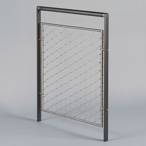protective barrier / fixed / stainless steel / wire mesh