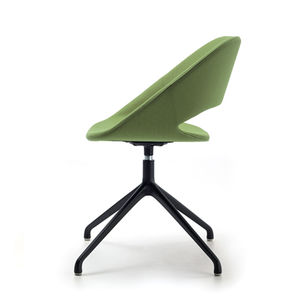 contemporary visitor chair / upholstered / star base / swivel