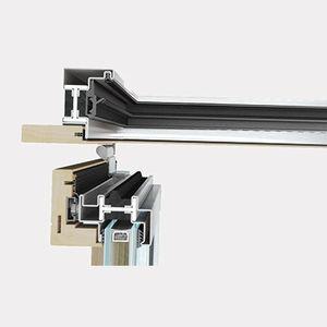 wooden window profile / steel / thermal break
