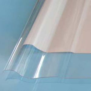 profiled polycarbonate panel / for roofs / transparent