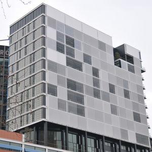 aluminum solar shading / for facade / motorized
