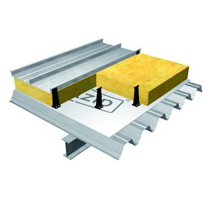 steel roof system / standing seam / metal profile / commercial