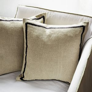 sofa cushion / for outdoor use / square / patterned