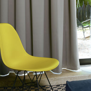 curtain fabric / for roller blinds / plain / FR polyester