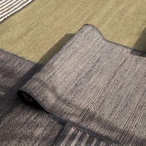 contemporary rug / striped / polyester / jute
