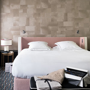 vinyl wallcovering / contract / matte / stone look