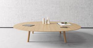 contemporary coffee table / MDF / wood veneer / HPL