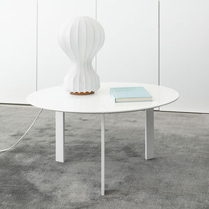 contemporary coffee table / oak / wood veneer / lacquered MDF