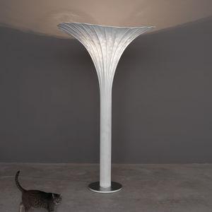 floor-standing lamp / original design / stainless steel mesh / incandescent
