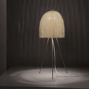 table lamp / contemporary / stainless steel mesh / tripod