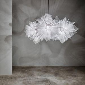 original design chandelier / painted steel / mesh / incandescent
