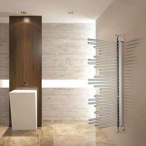 hot water towel radiator / chrome / contemporary / bathroom