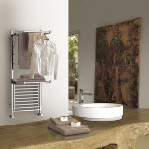 hot water towel radiator / chrome / contemporary / bathroom