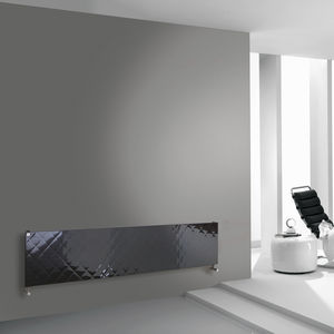 hot water radiator / metal / chrome / contemporary