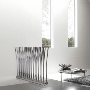 hot water radiator / chrome / original design / free-standing