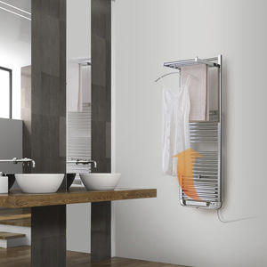 electric towel radiator / metal / contemporary / bathroom