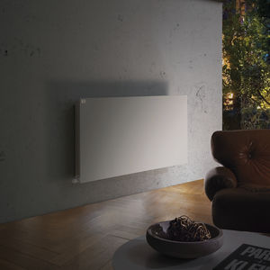 hot water radiator / metal / contemporary / low-temperature