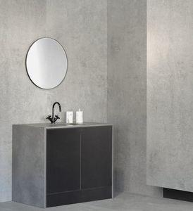 free-standing washbasin cabinet / Dekton® / contemporary / with mirror