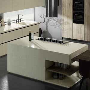 Silestone® countertop / kitchen / beige