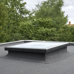 fixed roof window / PVC / double-glazed / thermally-insulated