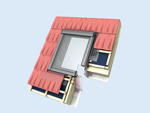 projection roof window / tilting / pivoting / fixed