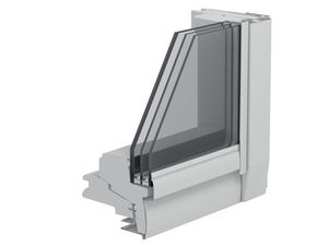 projection roof window / pivoting / wooden / triple-glazed