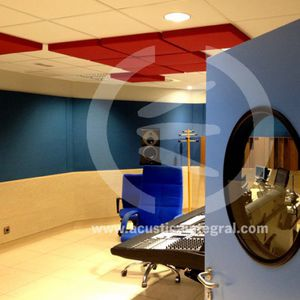 ceiling acoustic panel / fabric / decorative / commercial