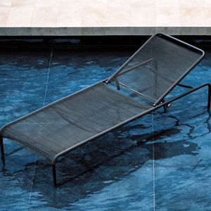contemporary sun lounger / stainless steel / polyester / garden