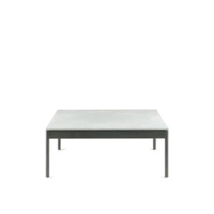contemporary coffee table / stainless steel / HPL / stone
