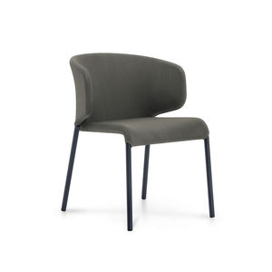 contemporary chair / upholstered / stackable / fabric