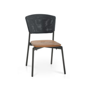 contemporary chair / stackable / with removable cushion / Batyline®