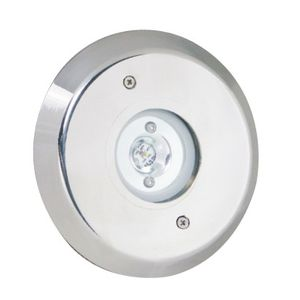 recessed floor light fixture / LED / round / for swimming pools