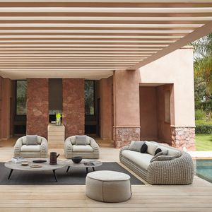 contemporary sofa / outdoor / Textilene® / polyolefin