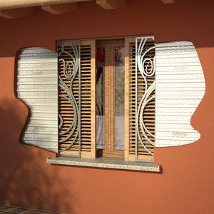 pocket shutters / wooden / window