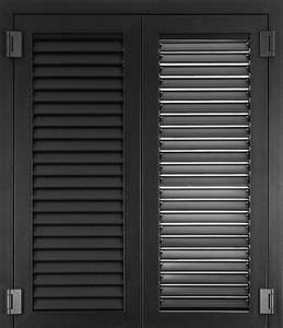 swing shutters / stainless steel / window / armored