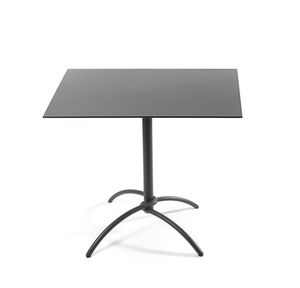 contemporary bistro table / laminate / ceramic / stainless steel base