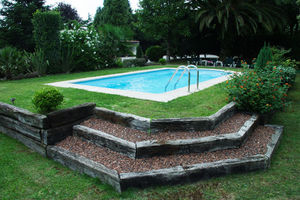 one-piece swimming pool / in-ground / polyester / outdoor