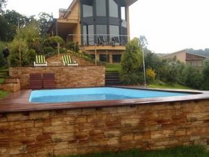 one-piece swimming pool / above-ground / polyester / outdoor
