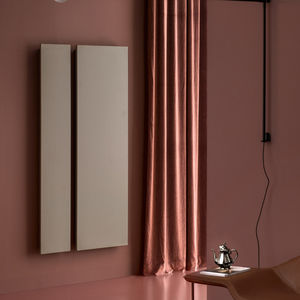 hot water radiator / metal / contemporary / rectangular
