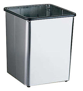 hygienic trash can / stainless steel / commercial / traditional