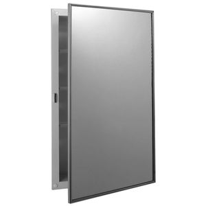 wall-mounted medicine cabinet / with mirror