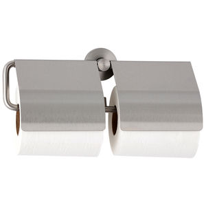 wall-mounted toilet roll holder / stainless steel / double roll / commercial