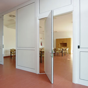interior door / rototranslating / wooden / for public buildings