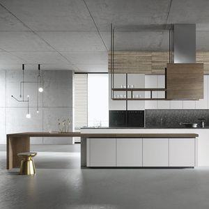 contemporary kitchen / wooden / marble / quartz