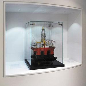 contemporary display case / countertop / wooden / glass