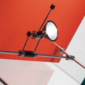 halogen cable lighting / round / metal / indoor